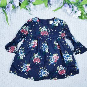 Gap NWOT dark blue floral dress set